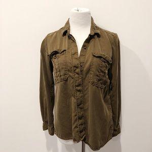 Zara Utility Button-up Shirt